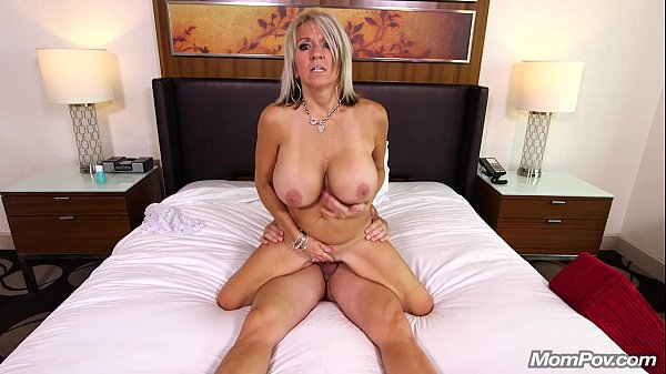 Huge titted milf facial