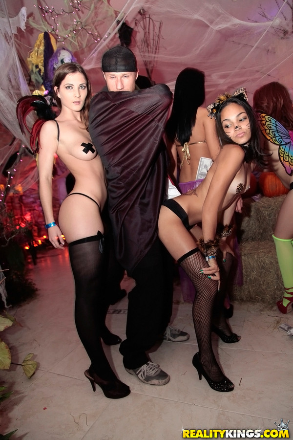 Nude halloween costume ball sex