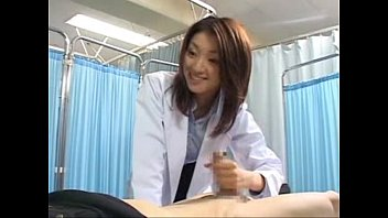 japanese female doctor makes her patient cum 1