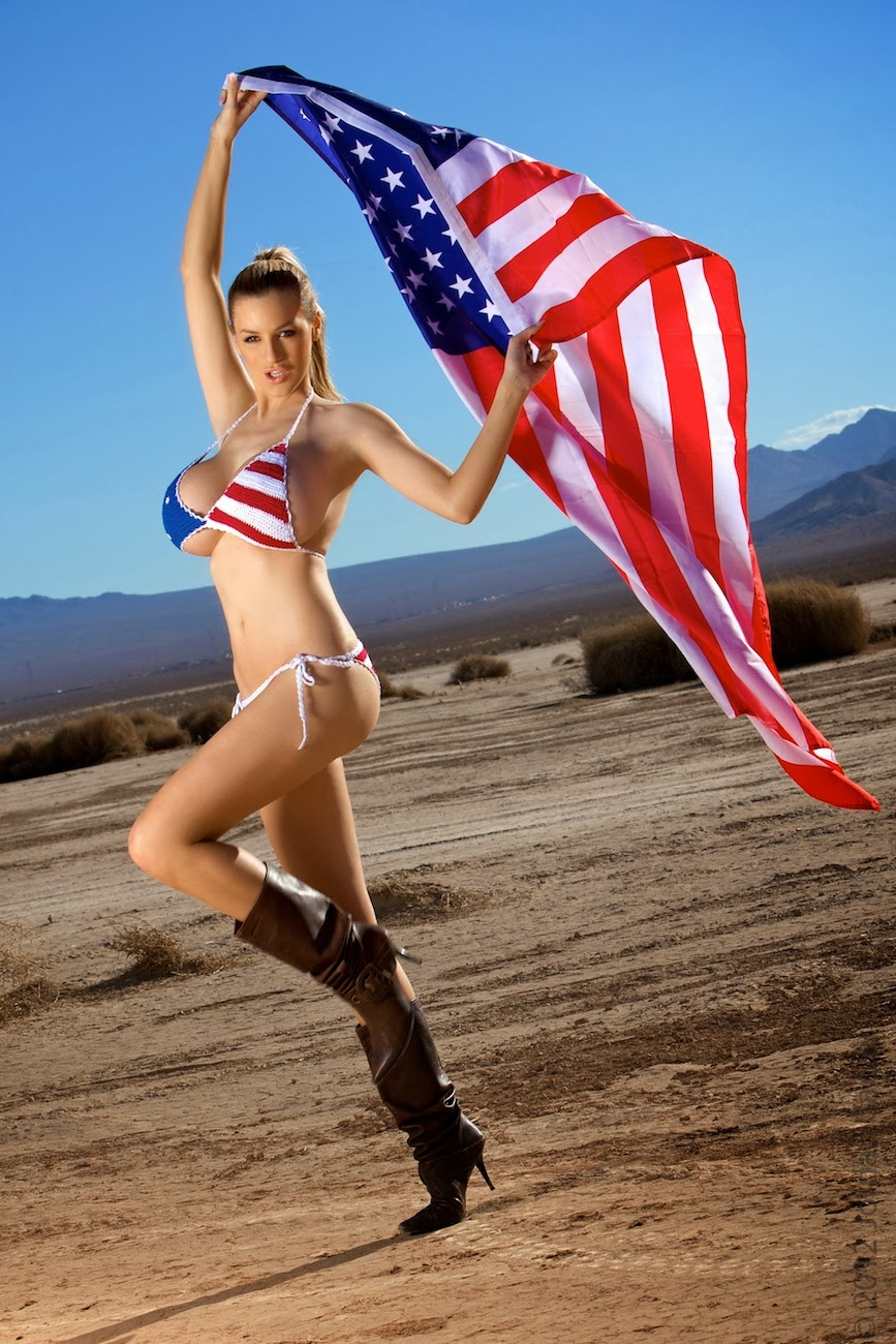 jordan carver topless in u flag bikini of july big boobs jordan ...