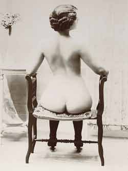 lady sitting on stool showing off her ass