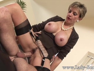 lady sonia fucks guys gets covered in cum 5