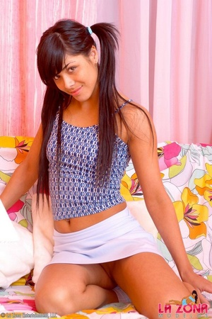 Petite Latina Teen Riding