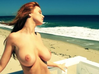 leanna decker beach beauty nude playboy plus