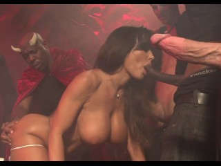 lisa ann gang bang bukkake 1