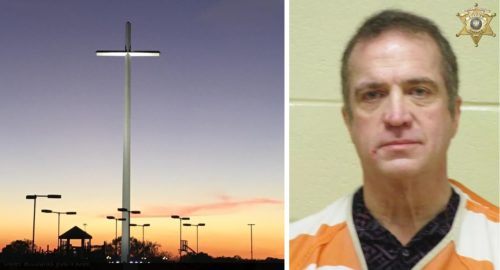 louisiana pastor who erected foot cross arrested for possession of meth