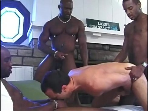 Luscious studs hot fuck in a bed