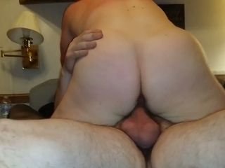 mature fat wife riding dick in a cowgirl position