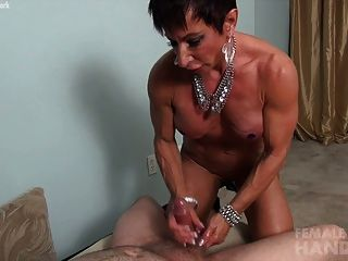 Handjob female bodybuilder pics