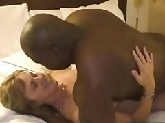 Mature interracial cuckold creampie