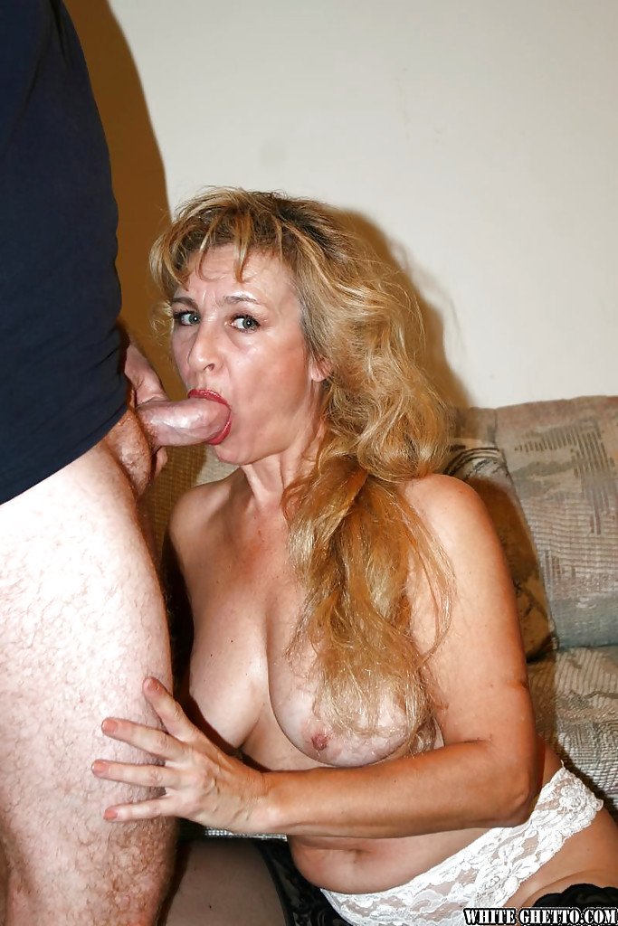 Mature Blonde Blowjob Big Tits