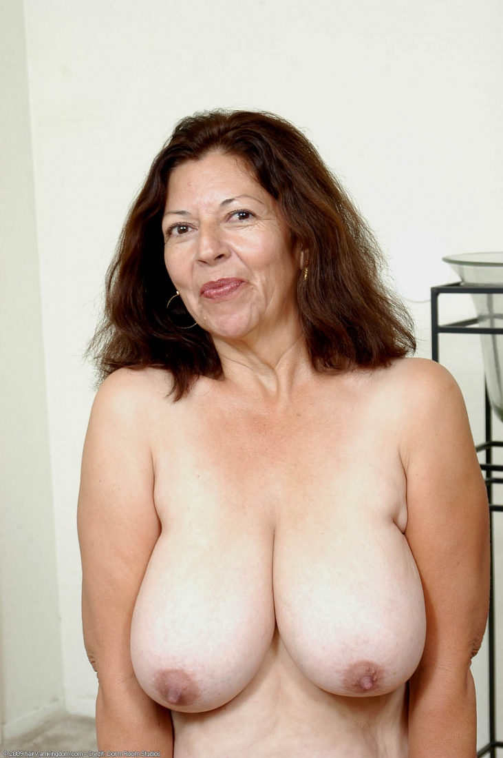 Woman at nudist convention