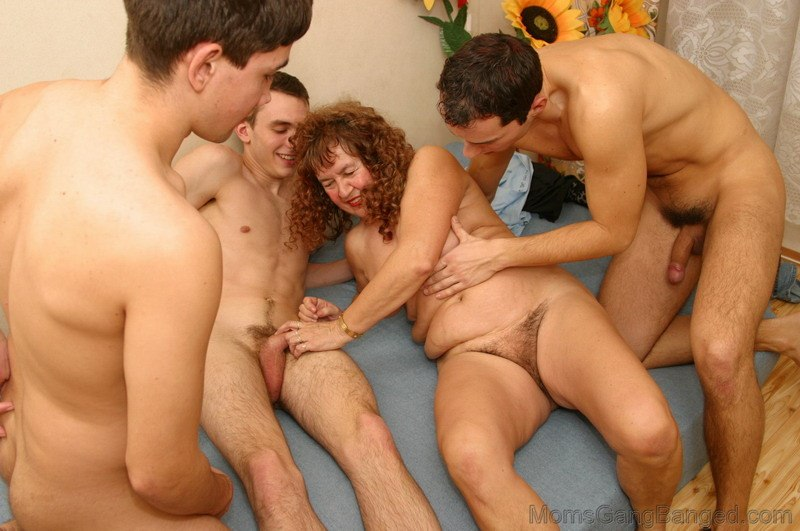 Milf fucking stepson and friend