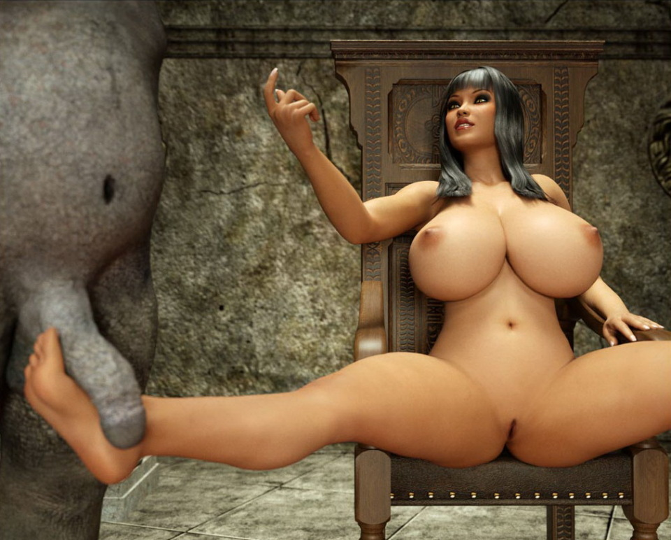 3d Cartoon Monster Dick