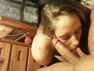 my ex drunkinly sucking whipped cream off cock