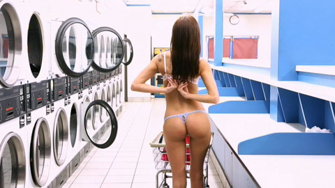 naked girl enjoys hot casual sex in the laundry room naked girls