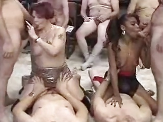 Fat wife gangbang bukkake tube