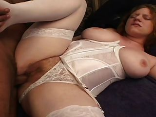 natural hairy redhead pale skin pink tits gets creampie tmb