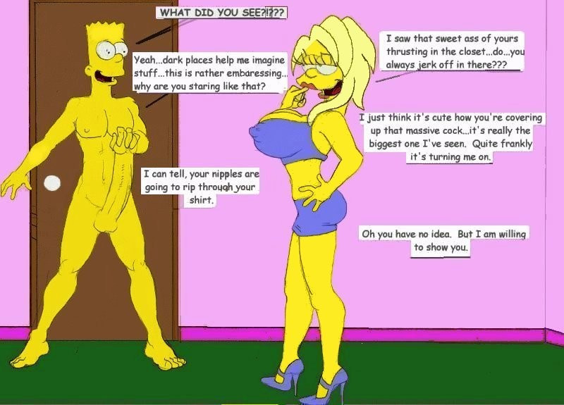 captions porn Simpsons cartoon