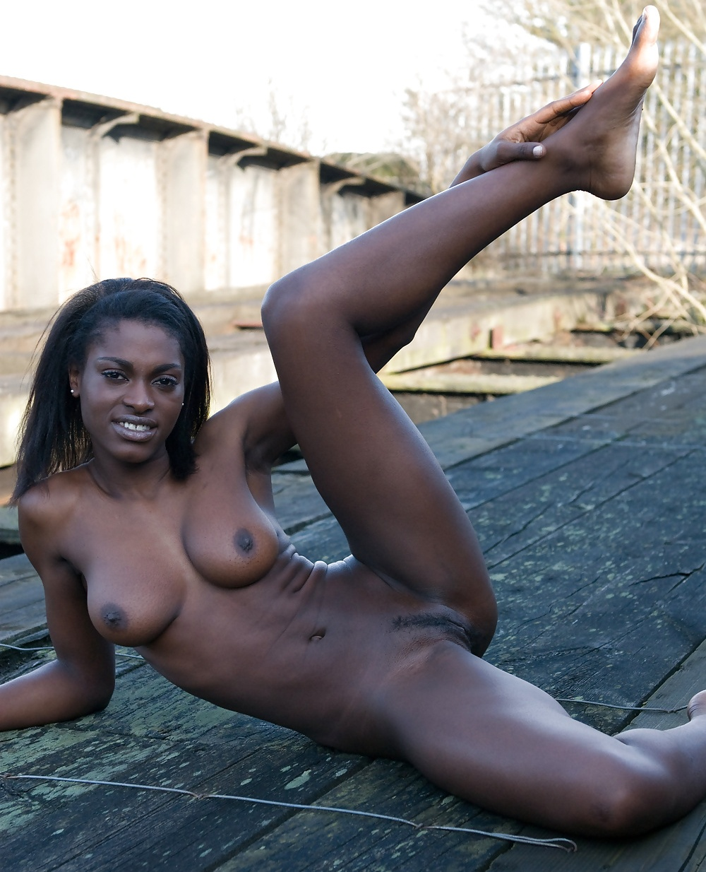 Ebony Teen Golden Shower