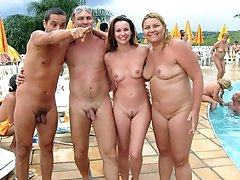 Nude women in public