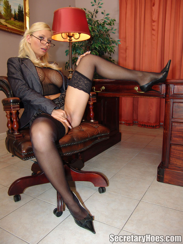office Old sex blonde
