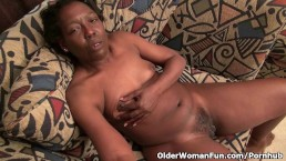 old black granny janet plays with her pussy on cam porn 5
