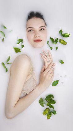 our love be so erstwhile campaign milk bath photoshoot photography engagement rings fashion ophelia in a flower bath