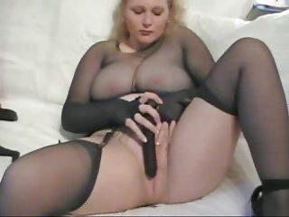 pantyhose mature nylon encasement masturbation