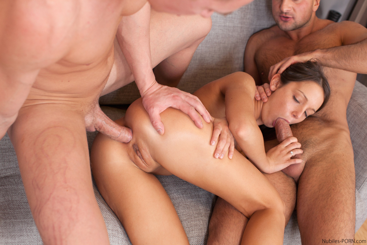 Couple Teen Anal Threesome