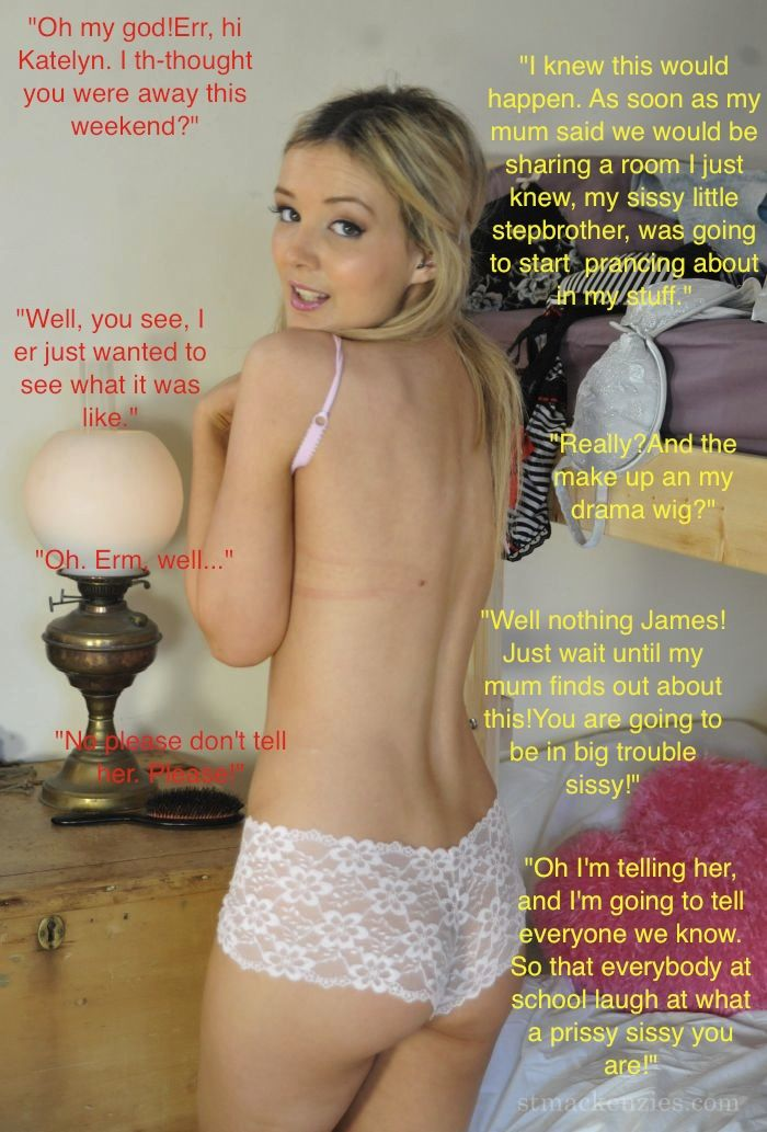 pink and frilly humiliation caps pinterest captions