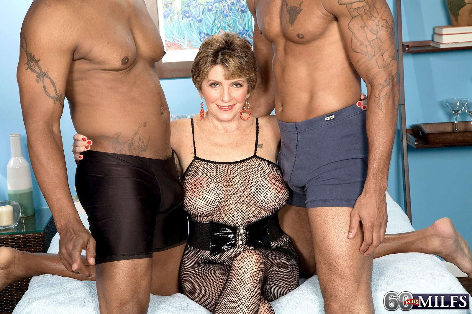 plus milfs two big black cocks for bea cummins bea