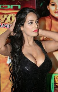 poonam pandey hot black dress cleavage photos southcolors