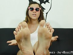 pov cuckoldress foot humiliation clean up feet amateur cuckold femdom foot fetish