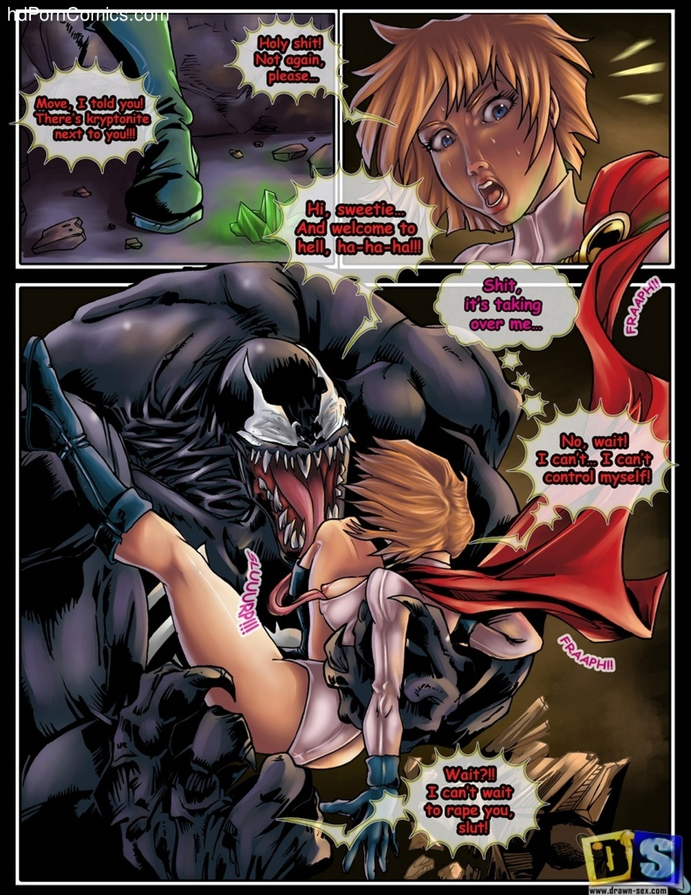 porn comic vs power girl Venom