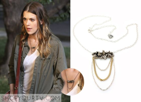 pretty little liars season episode paiges quartz cluster chain necklace shopyourtv