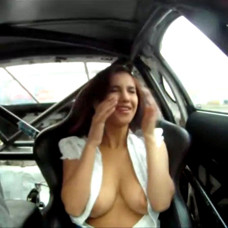Something Girls in the car porn something is