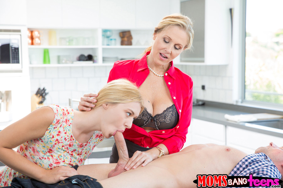 Blonde Milf Fucks Teen Boy