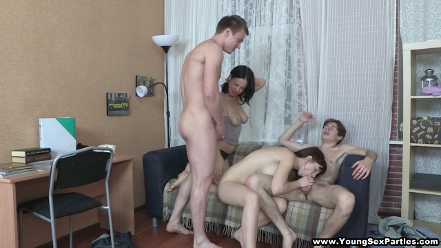 sex party for two horny couples