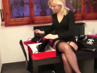 Advise Mature blonde stockings high heels with