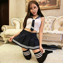 sexy japanese school girl students sailor lingerie uniform cosplay outfit dress uniform temptation sexy hot erotic