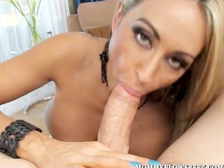 sexy milf claudia valentine giving expert blow job 2