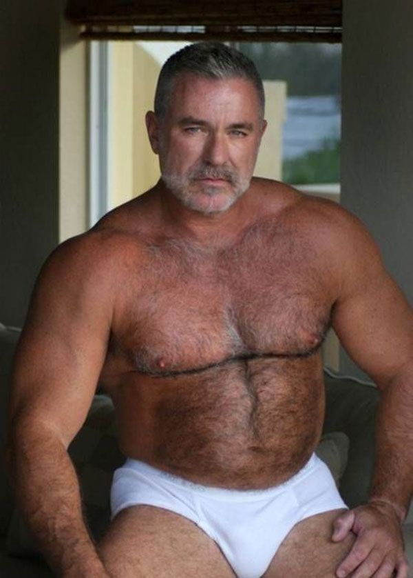 chest on man hair sexy Old fat