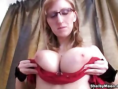 shelby moon plays with her huge bouncy boobs