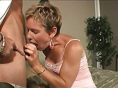 short hair mature with hairy pussy blowjob cumshot hairy mature 1