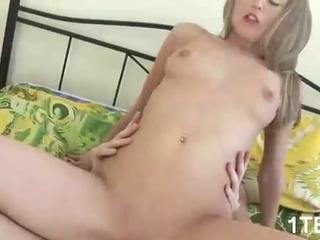 Tiny tits sucking big cocks for that