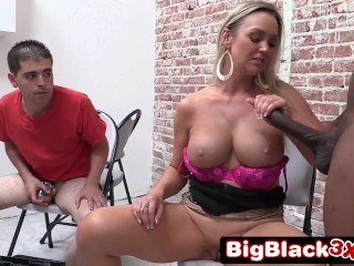 slutty wife takes in front of her loser cuckold husband 1