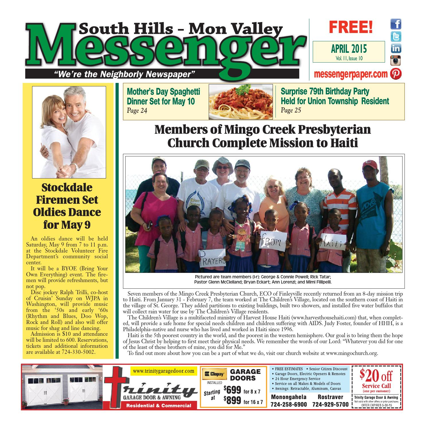 south hills mon valley messenger september south hills mon