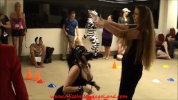 submissive girl loves rough masked petplay