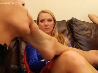 superheroine foot worship